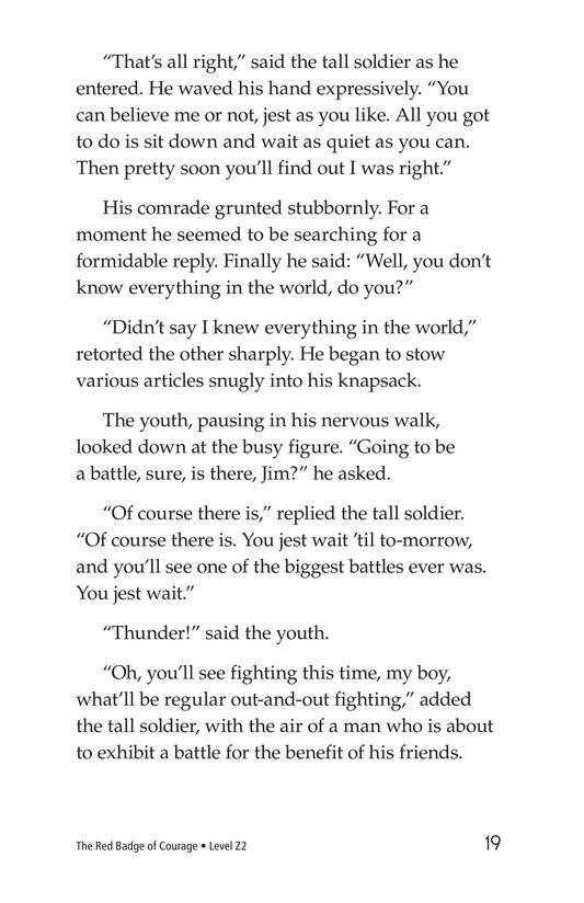 Book Preview For The Red Badge of Courage (Part 1) Page 19