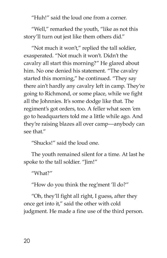 Book Preview For The Red Badge of Courage (Part 1) Page 20