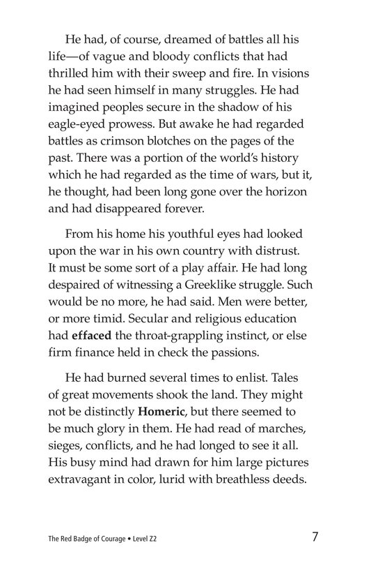 Book Preview For The Red Badge of Courage (Part 1) Page 7