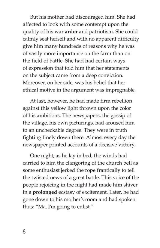 Book Preview For The Red Badge of Courage (Part 1) Page 8