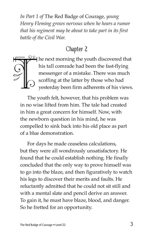 Book Preview For The Red Badge of Courage (Part 2) Page 3