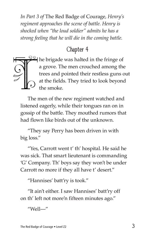 Book Preview For The Red Badge of Courage (Part 4) Page 3
