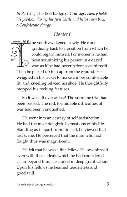 Book Preview For The Red Badge of Courage (Part 5) Page 3