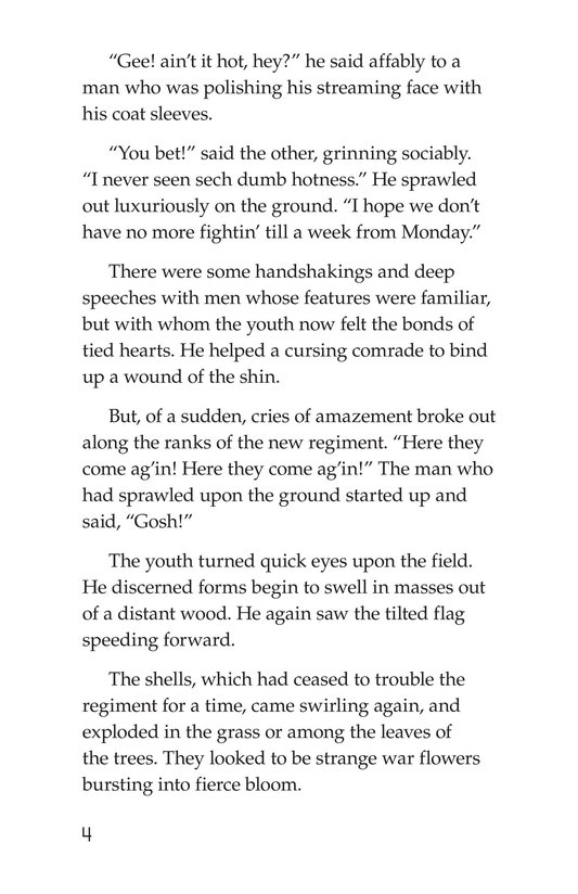 Book Preview For The Red Badge of Courage (Part 5) Page 4