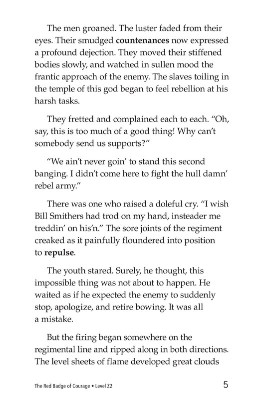 Book Preview For The Red Badge of Courage (Part 5) Page 5
