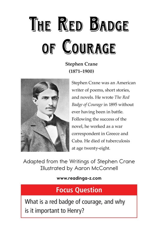 Book Preview For The Red Badge of Courage (Part 6) Page 1
