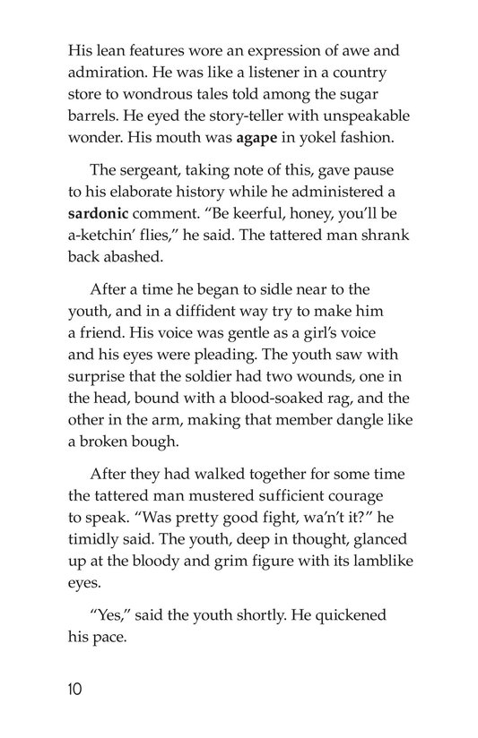 Book Preview For The Red Badge of Courage (Part 6) Page 10