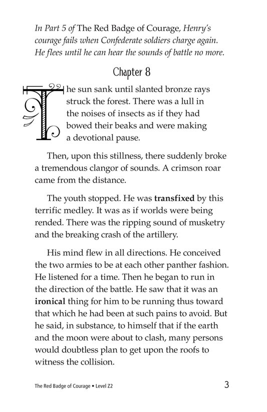 Book Preview For The Red Badge of Courage (Part 6) Page 3
