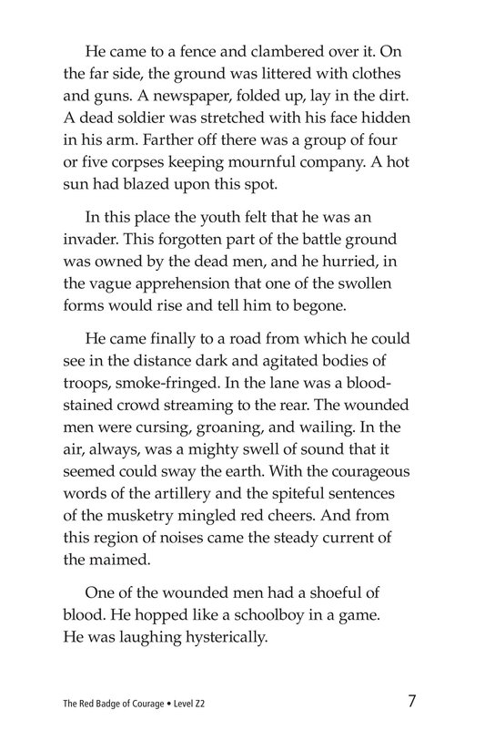 Book Preview For The Red Badge of Courage (Part 6) Page 7