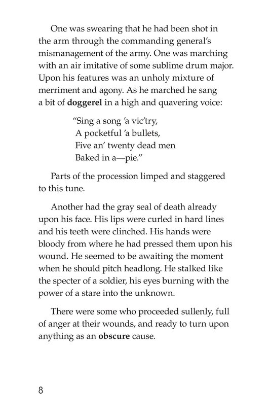 Book Preview For The Red Badge of Courage (Part 6) Page 8