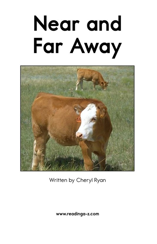 Book Preview For Near and Far Away Page 2