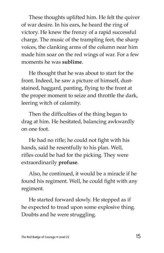 Book Preview For The Red Badge of Courage (Part 7) Page 15