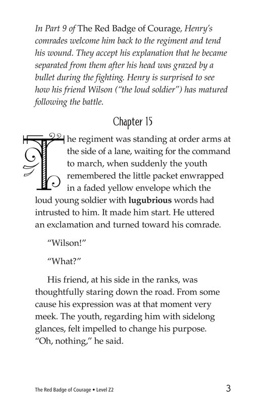Book Preview For The Red Badge of Courage (Part 10) Page 3
