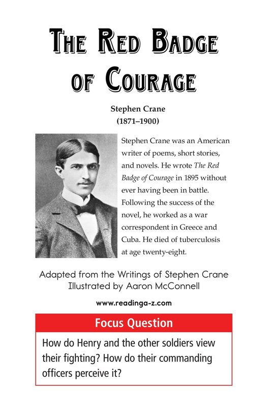 Book Preview For The Red Badge of Courage (Part 11) Page 1
