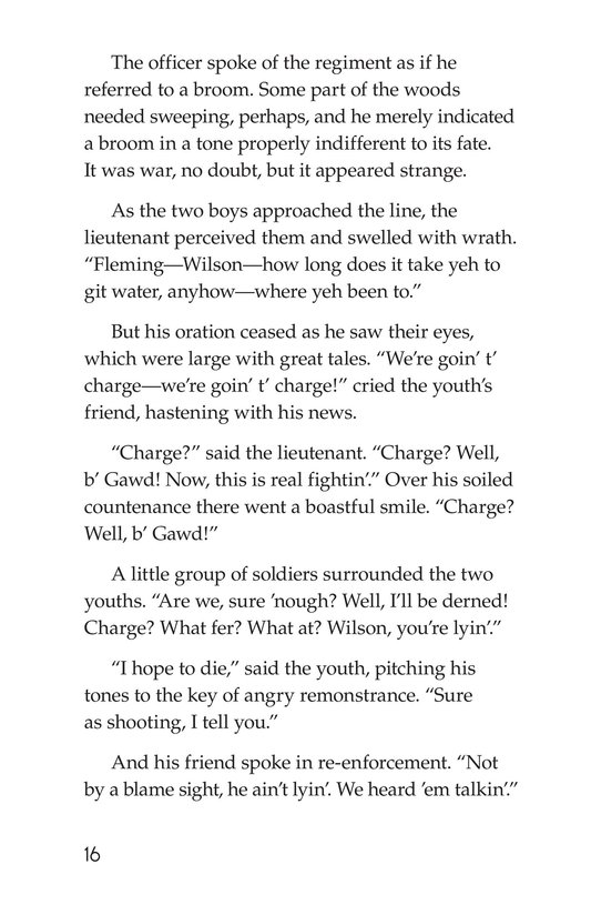 Book Preview For The Red Badge of Courage (Part 11) Page 16