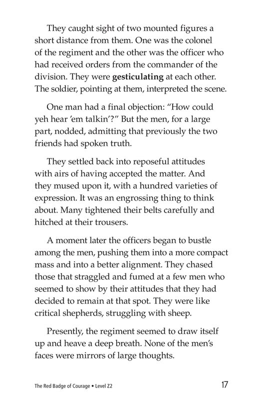 Book Preview For The Red Badge of Courage (Part 11) Page 17