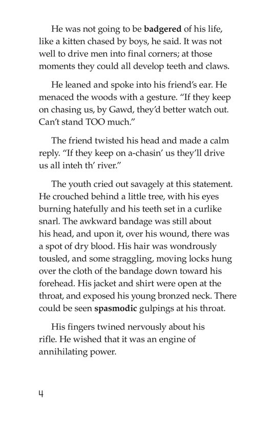 Book Preview For The Red Badge of Courage (Part 11) Page 4