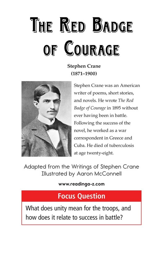 Book Preview For The Red Badge of Courage (Part 12) Page 1