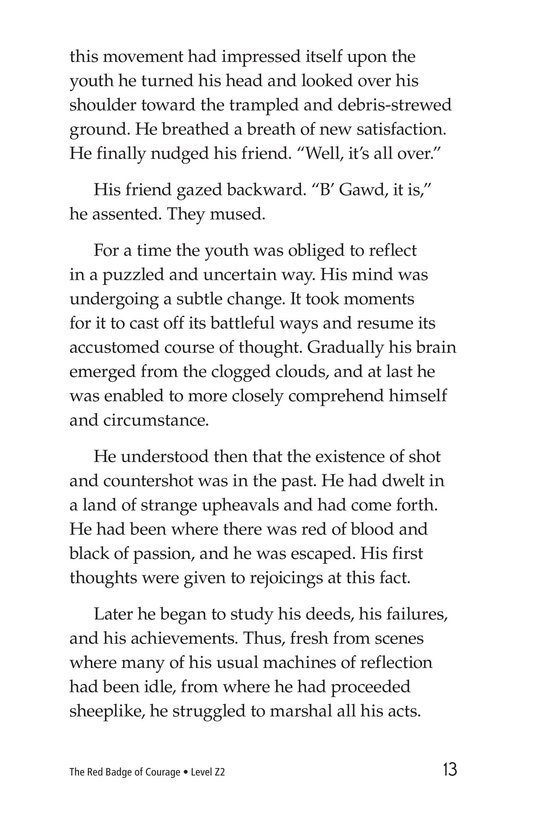 Book Preview For The Red Badge of Courage (Part 14) Page 13