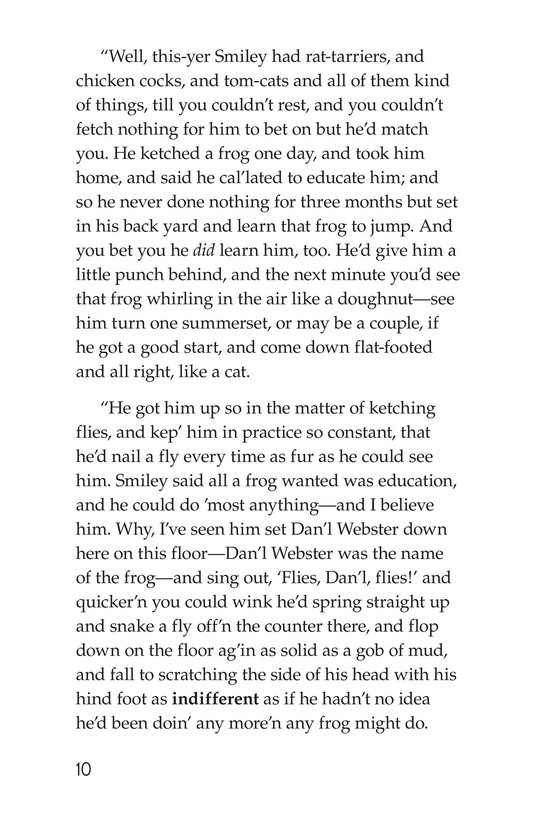 Book Preview For The Celebrated Jumping Frog of Calaveras County Page 10