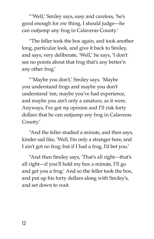 Book Preview For The Celebrated Jumping Frog of Calaveras County Page 12