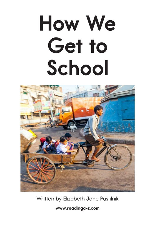 Book Preview For How We Get to School Page 2