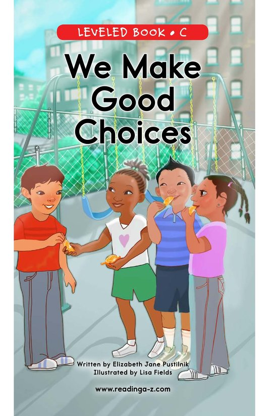Book Preview For We Make Good Choices Page 0