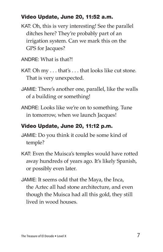 Book Preview For The Treasure of El Dorado Page 7