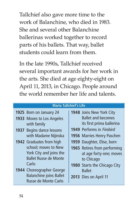 Book Preview For Maria Tallchief: Prima Ballerina Page 14