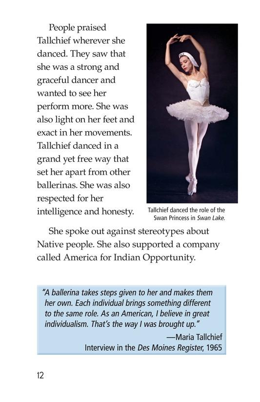 Book Preview For Maria Tallchief: Prima Ballerina Page 12
