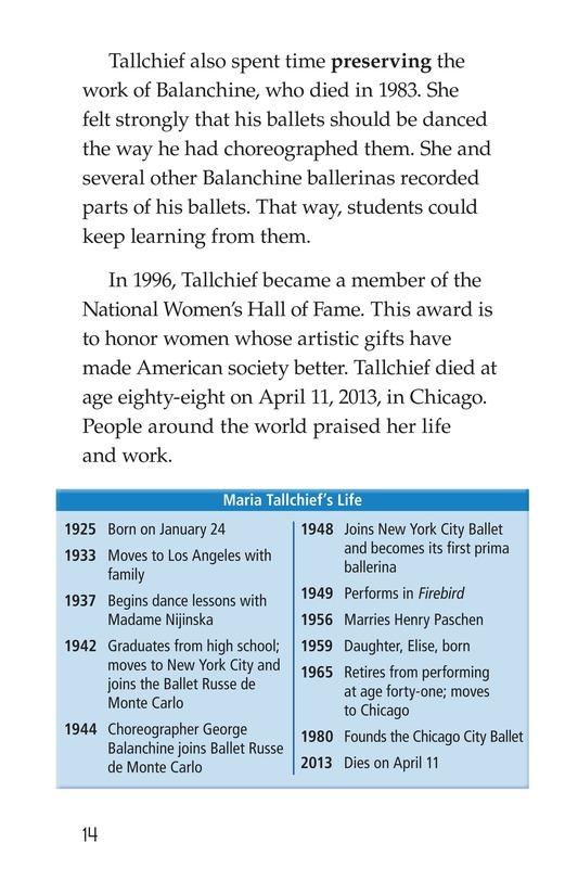 Book Preview For Maria Tallchief: Prima Ballerina Page 14