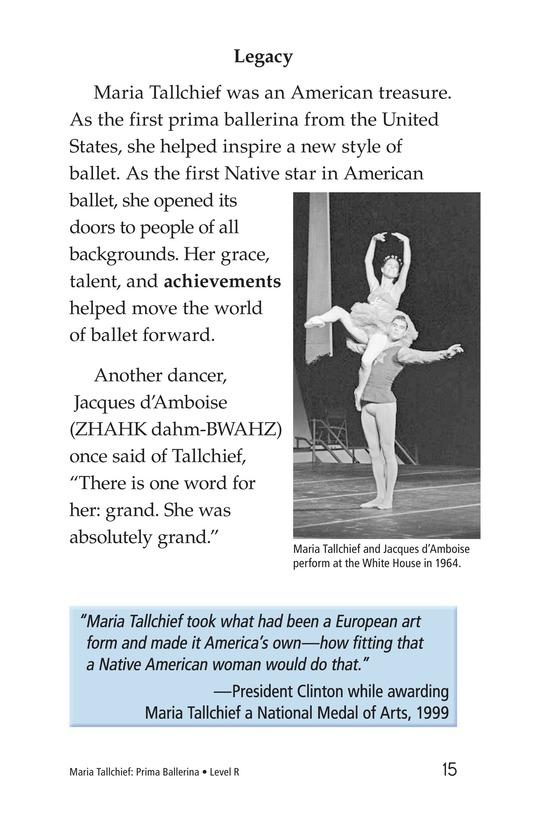 Book Preview For Maria Tallchief: Prima Ballerina Page 15