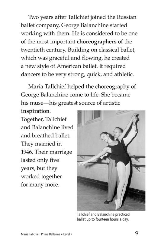 Book Preview For Maria Tallchief: Prima Ballerina Page 9