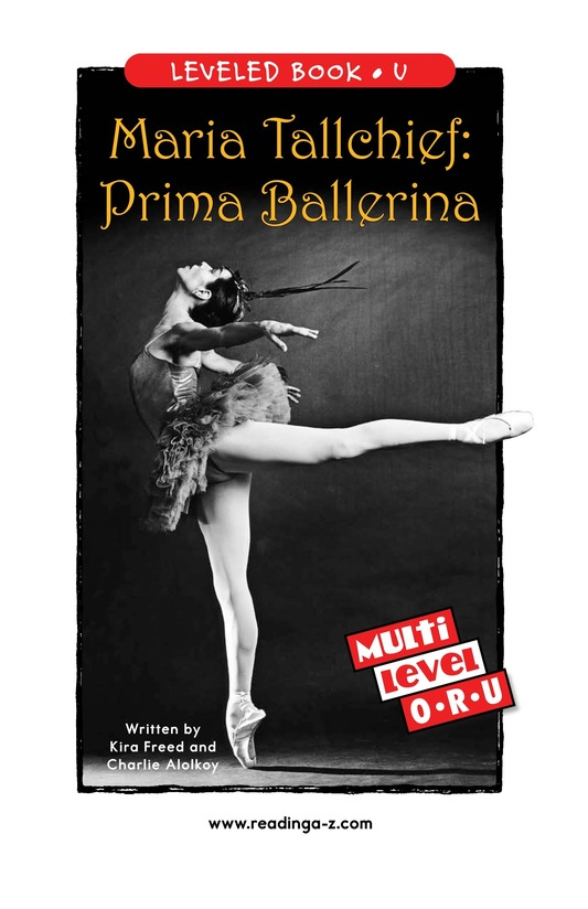 Book Preview For Maria Tallchief: Prima Ballerina Page 0