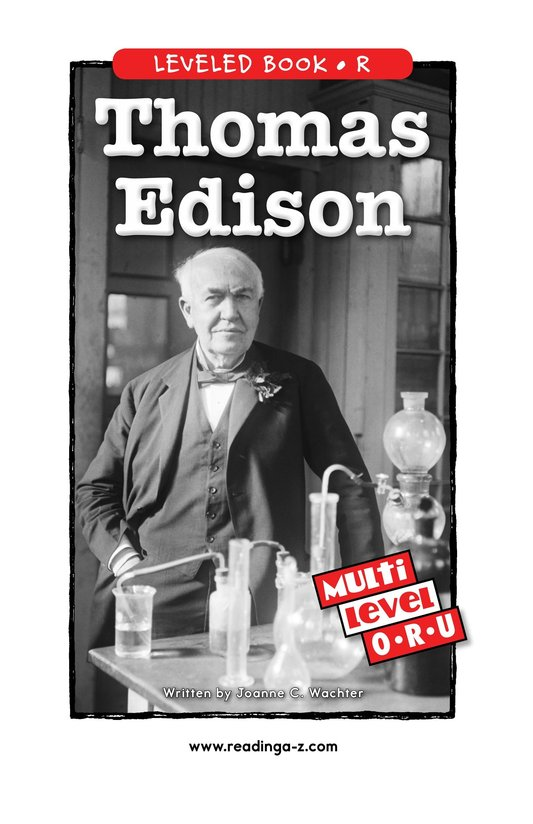 Book Preview For Thomas Edison Page 0