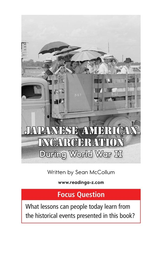 Book Preview For Japanese American Incarceration During World War II Page 1