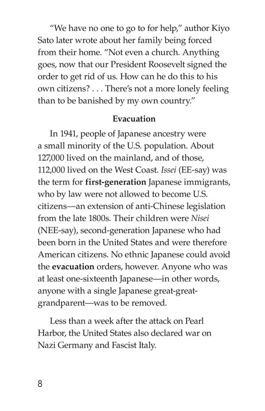 Book Preview For Japanese American Incarceration During World War II Page 8
