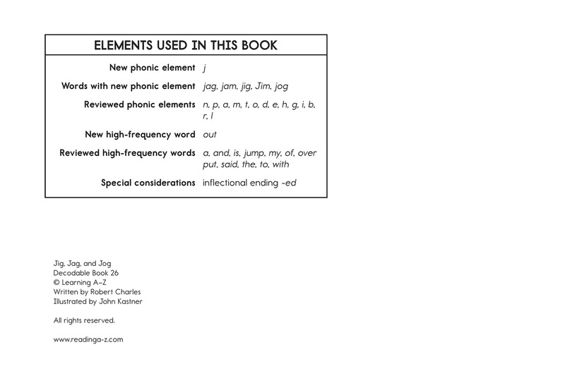 Book Preview For Jig, Jag, and Jog Page 11