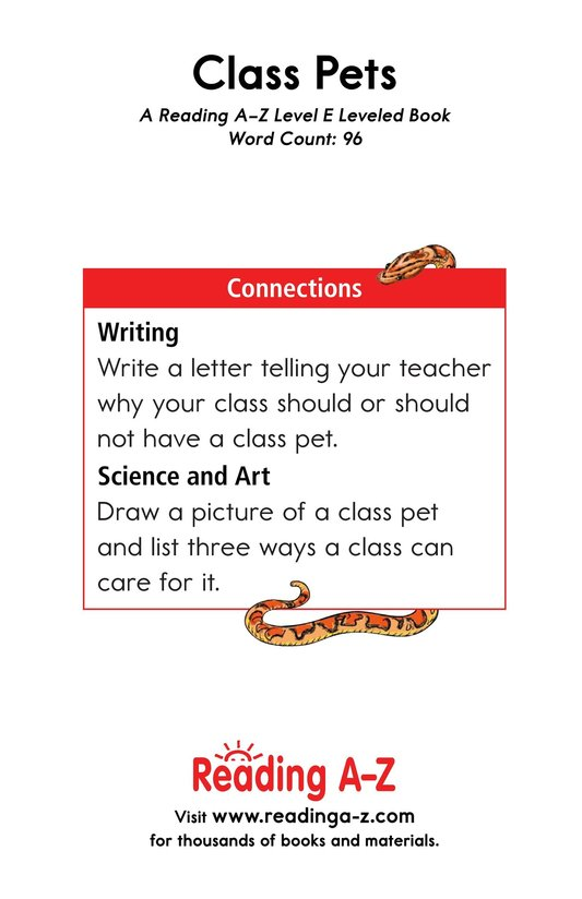 Book Preview For Class Pets Page 13