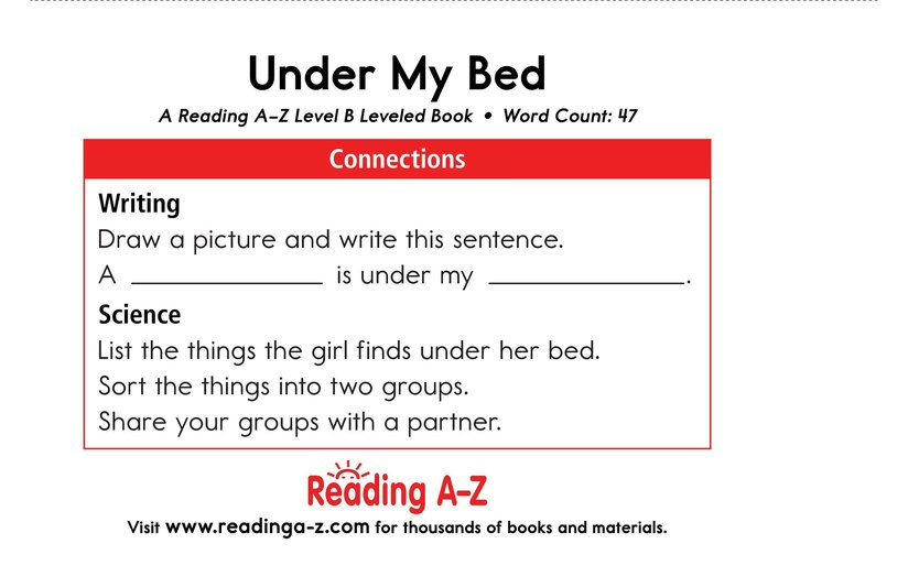 Book Preview For Under My Bed Page 11