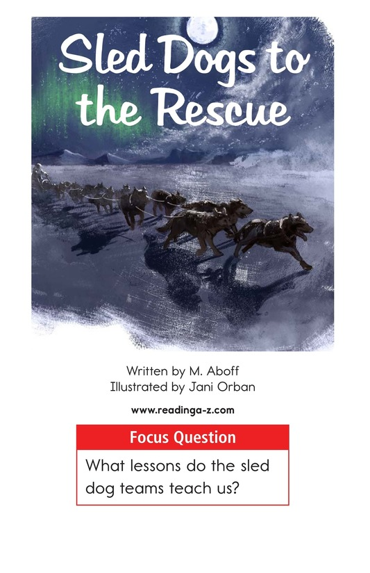 Book Preview For Sled Dogs to the Rescue Page 1