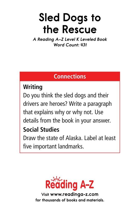 Book Preview For Sled Dogs to the Rescue Page 17