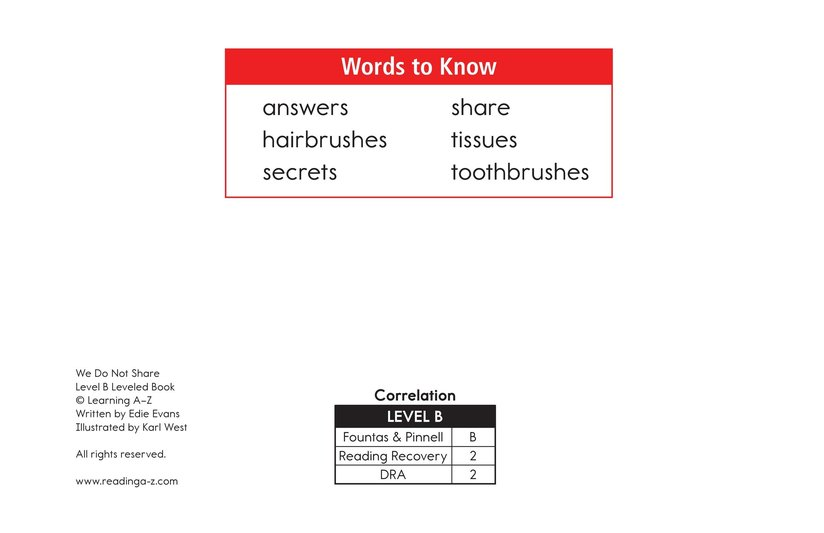 Book Preview For We Do Not Share Page 2