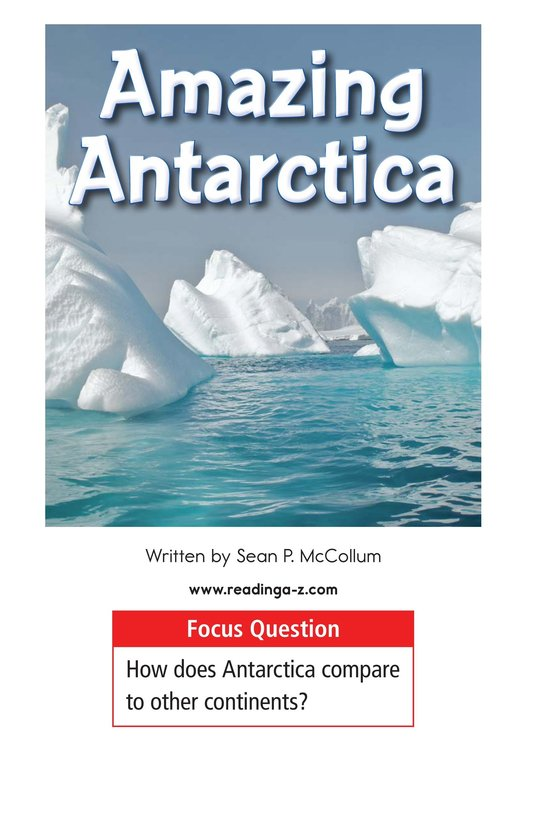 Book Preview For Amazing Antarctica Page 1