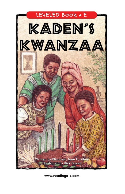Book Preview For Kaden's Kwanzaa Page 0