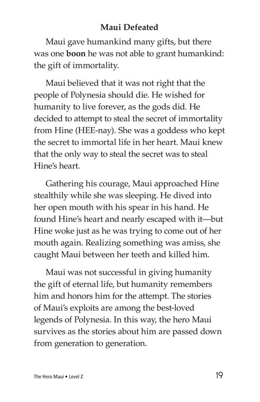 Book Preview For The Hero Maui Page 19