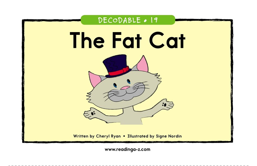 Book Preview For The Fat Cat Page 1