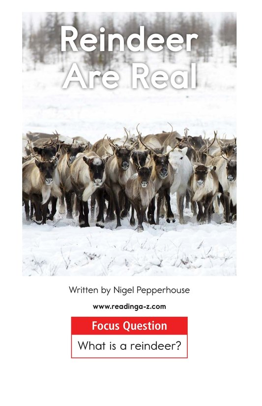 Book Preview For Reindeer Are Real Page 1