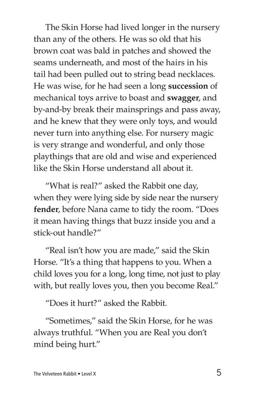 Book Preview For The Velveteen Rabbit Page 5