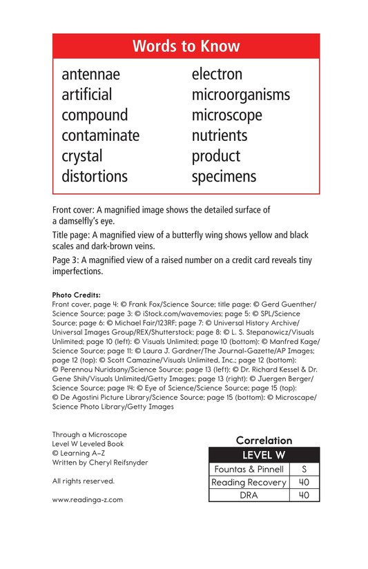 Book Preview For Through a Microscope Page 2